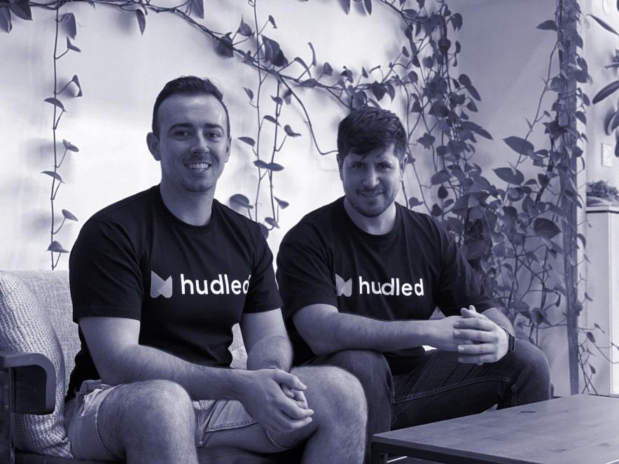 Hudled team photo