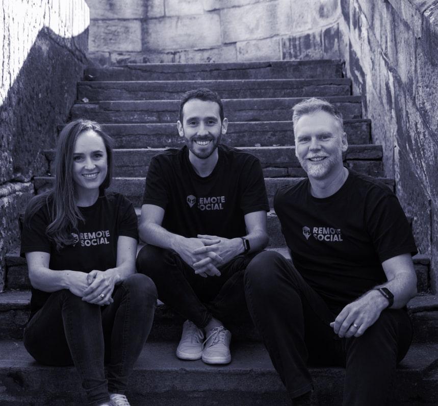 Remote social team photo